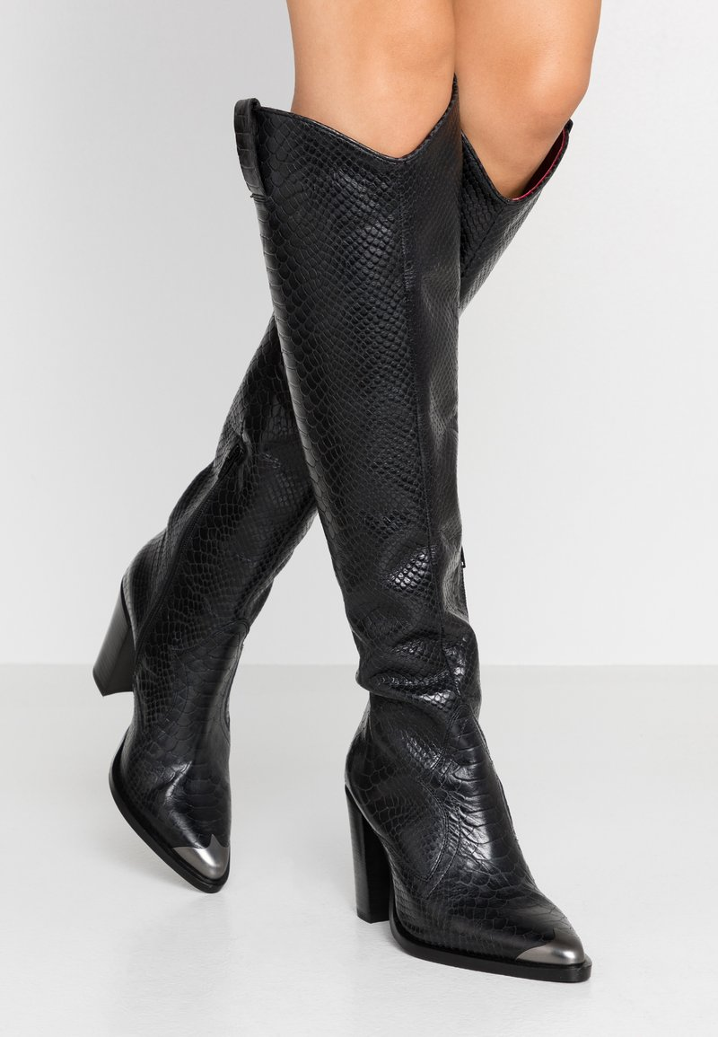 Bronx - NEW-AMERICANA - Over-the-knee boots - black