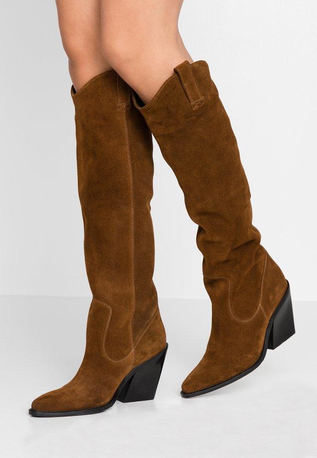 NEW-KOLE - High heeled boots - cognac