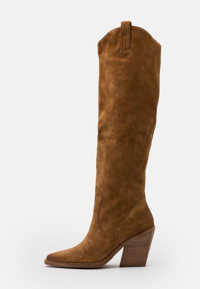 NEW-KOLE - Boots med høye hæler - cognac