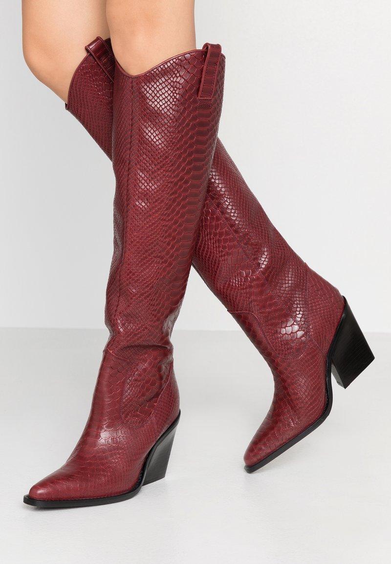 Bronx - High heeled boots - wine