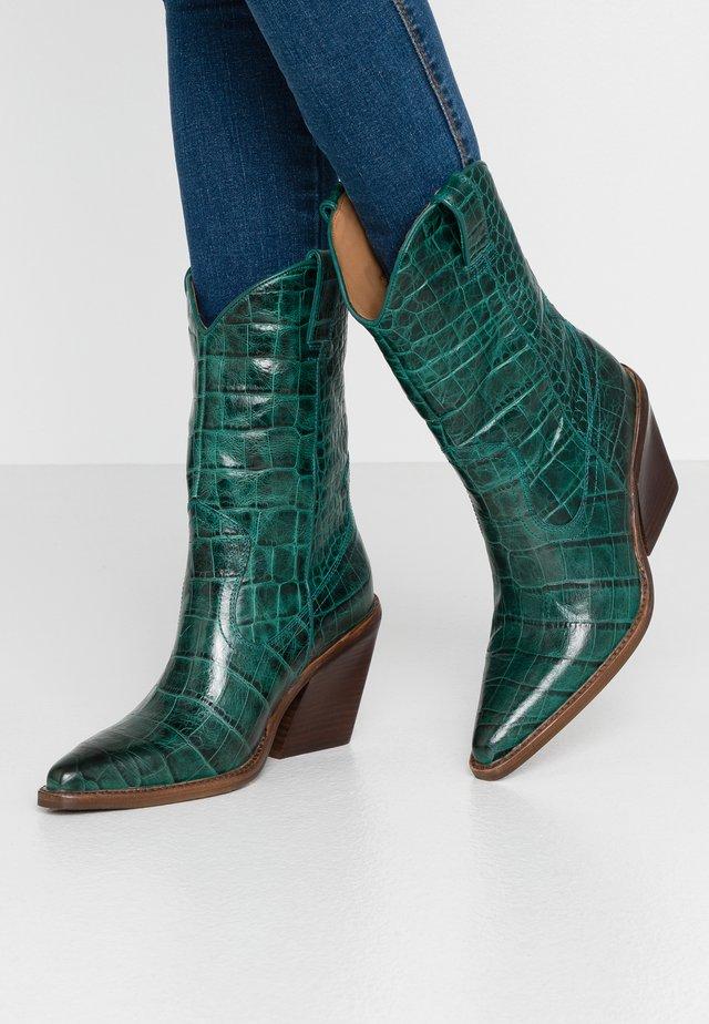 NEW KOLE  - High heeled boots - emerald