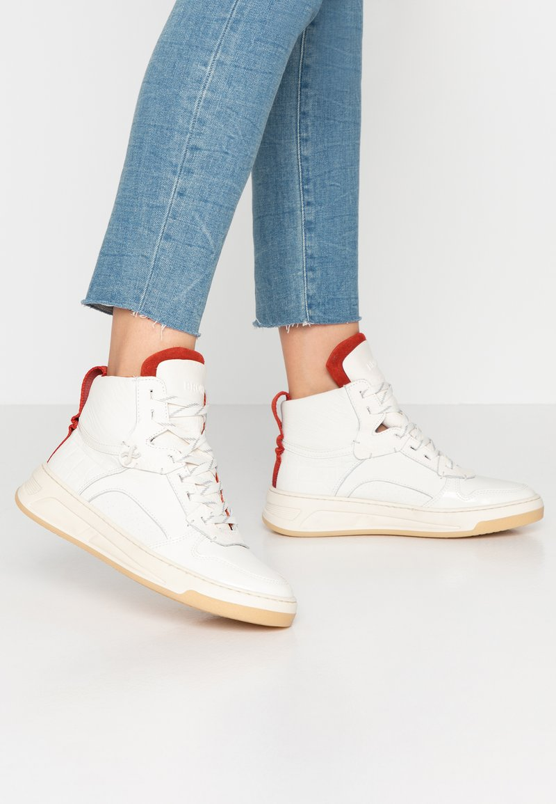 Bronx - OLD COSMO - Sneaker high - offwhite/rust