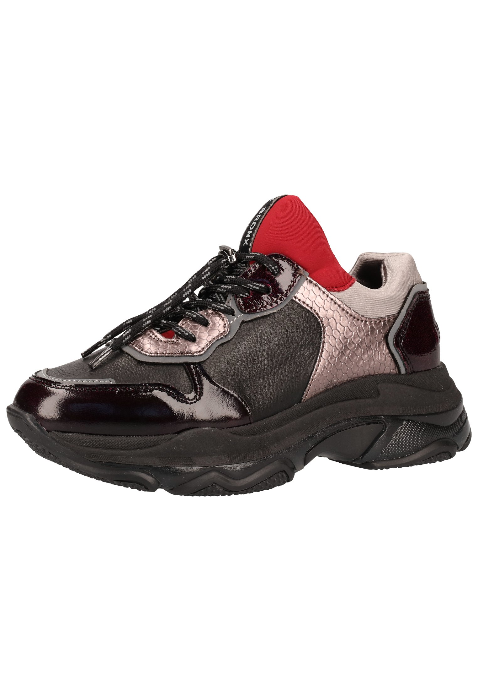 Bronx Sneakersy niskie - wine/black