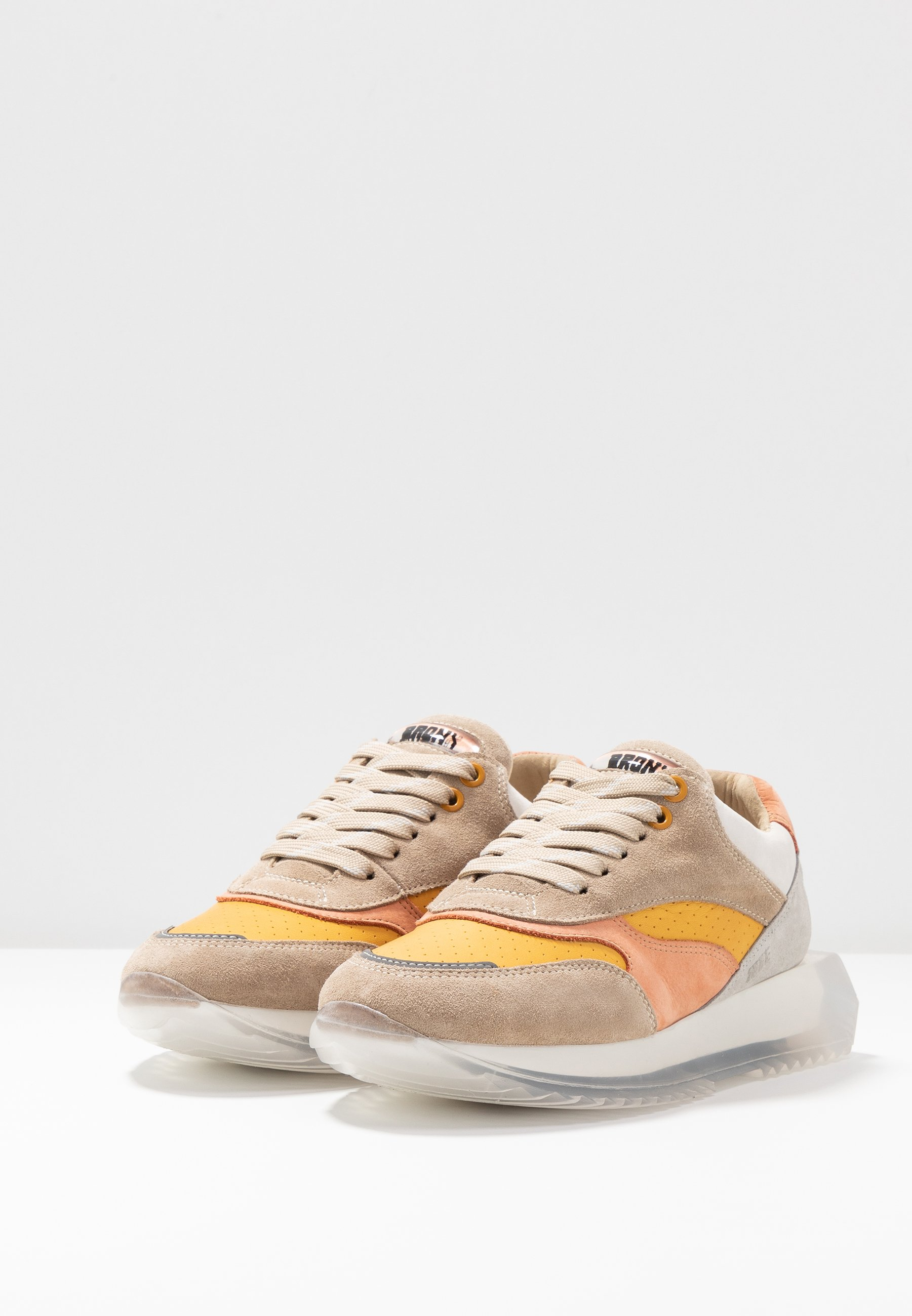 Bronx LINKK-UP - Baskets basses - taupe/mustard/light orange/light grey