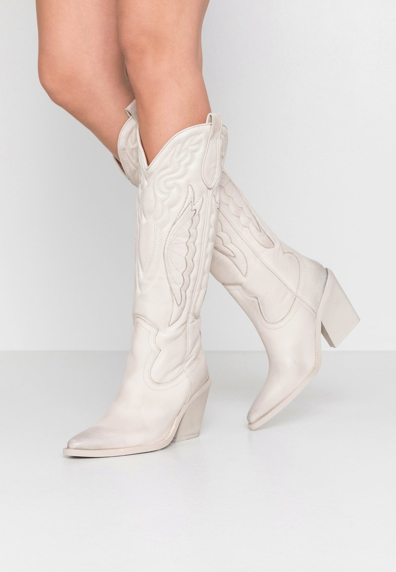 Bronx - NEW KOLE - High heeled boots - offwhite