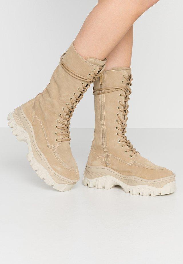 JAXSTAR - Platform boots - cappuccino