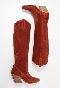 Bronx - KOLE - Cowboy/Biker boots - deep rust - 3
