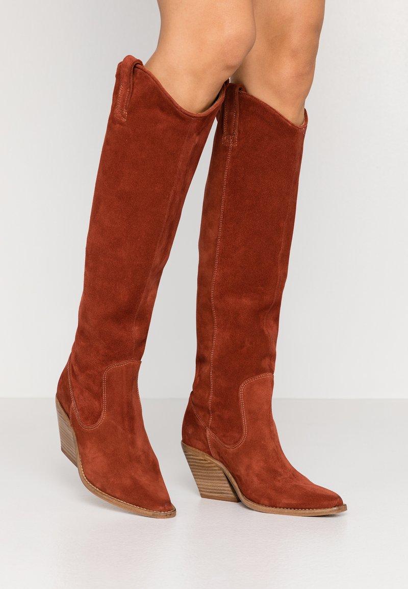 Bronx - KOLE - Cowboy/Biker boots - deep rust
