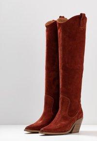 Bronx - KOLE - Cowboy/Biker boots - deep rust - 4