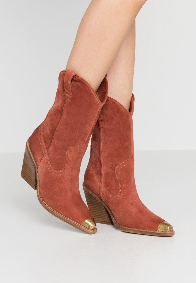 NEW KOLE - High heeled boots - deep rust