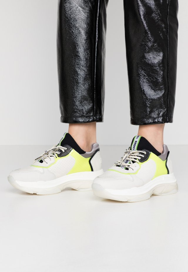 BAISLEY - Sneakers - offwhite/neon yellow/black