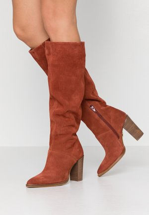 NEW AMERICANA - High heeled boots - deep rust