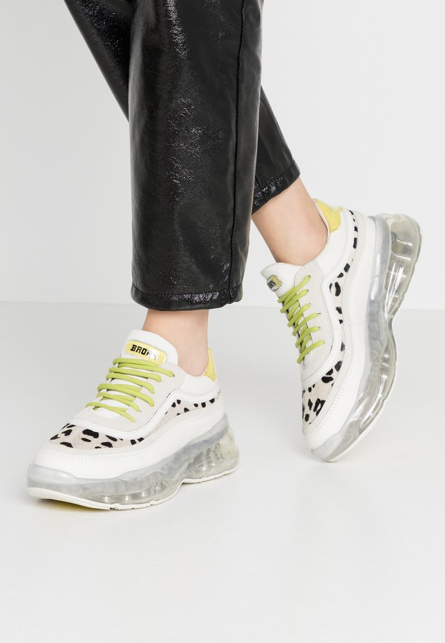 BUBBLY - Sneakers - offwhite/lime