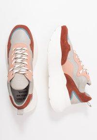 Bronx - GRAYSON - Zapatillas - deep rust/grey/pink/blue - 3