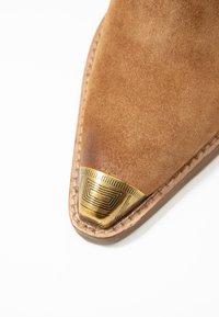Bronx - KOLE - Pantofle na podpatku - cognac - 2