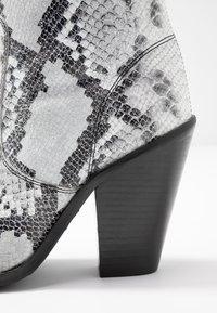 Bronx - TEX-HIGH - High heeled ankle boots - black/white - 2