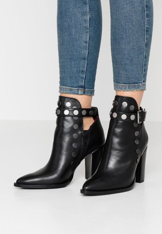 NEW-AMERICANA STUDS - High heeled ankle boots - black