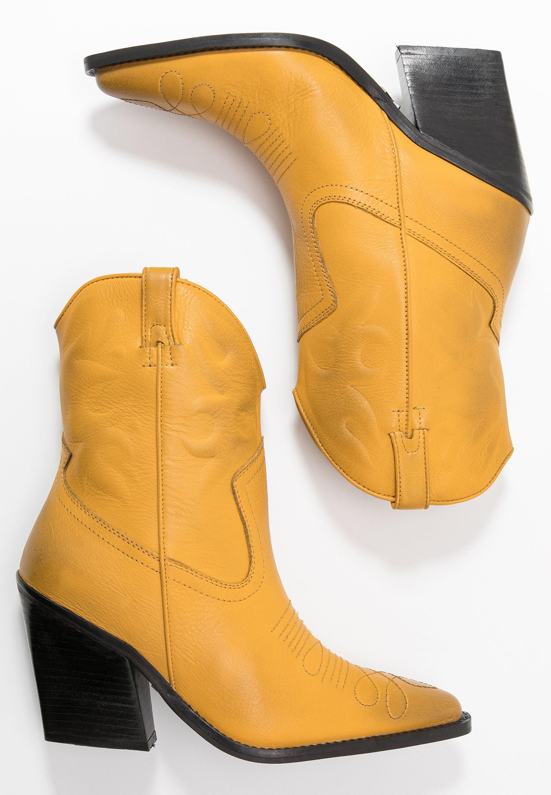 Bronx NEW KOLE - Cowboy- / bikerstøvlette - mustard
