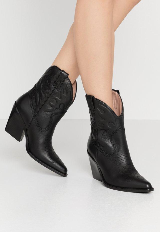 NEW KOLE - Kovbojské/motorkářské boty - black