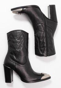 Bronx - NEW AMERICANA - Kotníková obuv na vysokém podpatku - black - 3