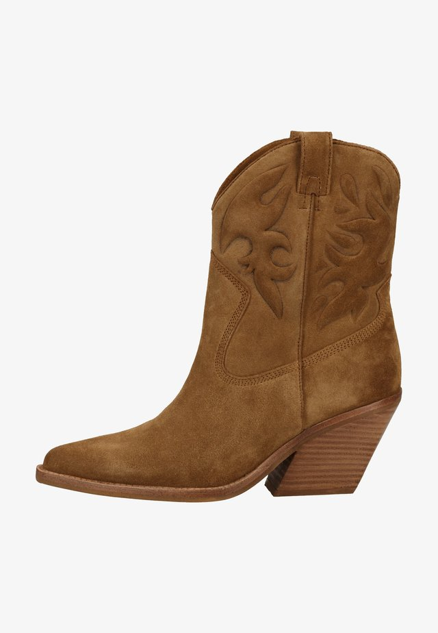 Ankle boots - dark natural