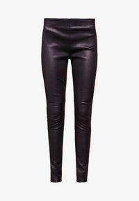 Bruuns Bazaar - CHRISSY  - Leather trousers - black - 4