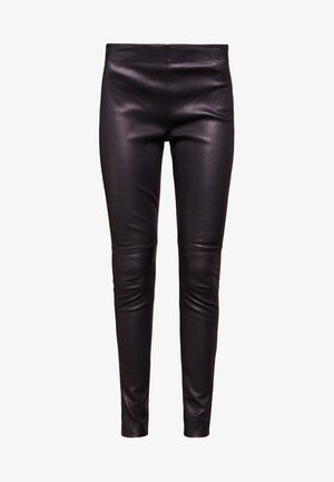 CHRISSY  - Leather trousers - black