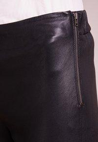 Bruuns Bazaar - CHRISSY  - Leather trousers - black - 3