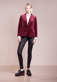 Bruuns Bazaar - CHRISSY  - Leather trousers - black - 1