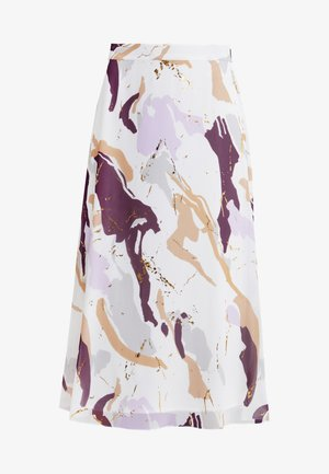 POETIC COCO SKIRT - A-lijn rok - off-white/lilac