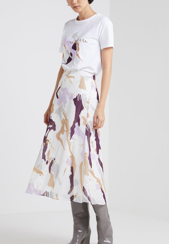 POETIC COCO SKIRT - Gonna a campana - off-white/lilac