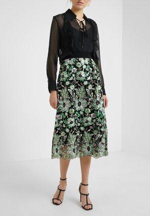 TULLAH PALMA SKIRT - A-line skirt - black/green