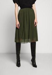 Bruuns Bazaar - THORA VIOLET SKIRT - Áčková sukně - olive green - 0