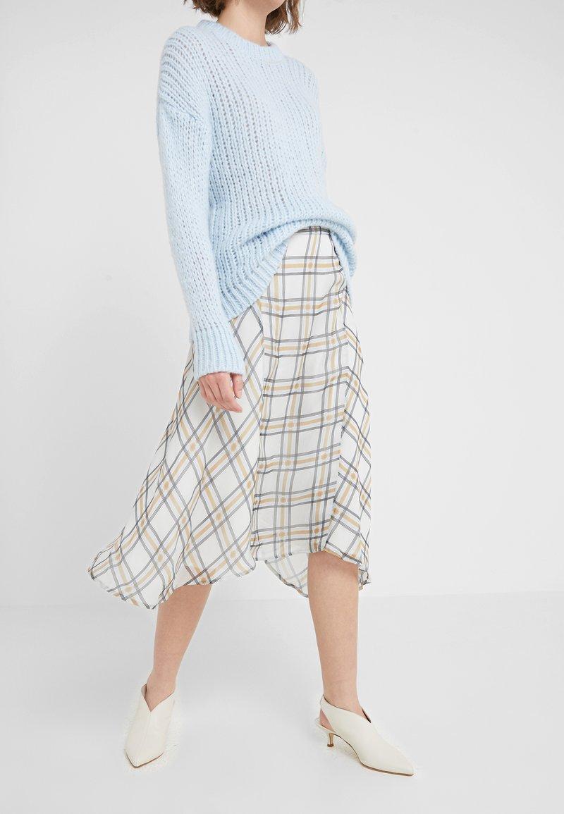 Bruuns Bazaar - CHECK KATE SKIRT - A-line skirt - snow white
