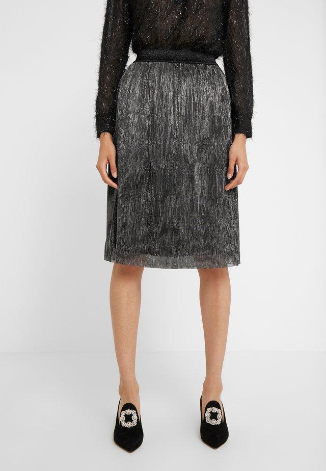 METALLIC DARIANE CECILIE SKIRT - A-snit nederdel/ A-formede nederdele - dark silver