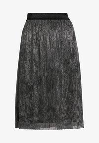 Bruuns Bazaar - METALLIC DARIANE CECILIE SKIRT - A-line skirt - dark silver - 3