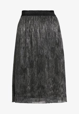 METALLIC DARIANE CECILIE SKIRT - A-line skirt - dark silver