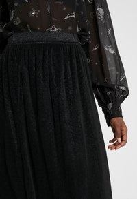 Bruuns Bazaar - METALLIC DARIANE CECILIE SKIRT - A-linjainen hame - black - 4