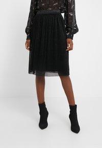 Bruuns Bazaar - METALLIC DARIANE CECILIE SKIRT - A-line skirt - black - 0
