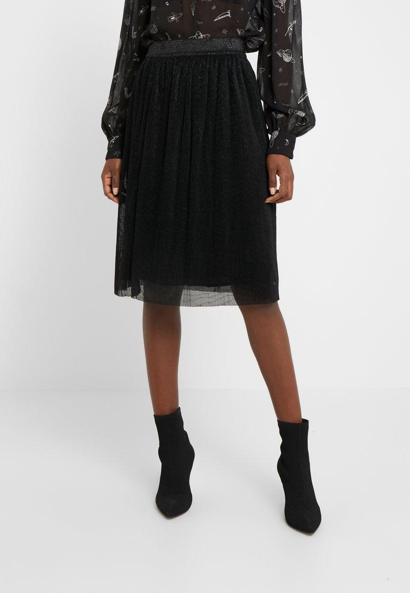 Bruuns Bazaar - METALLIC DARIANE CECILIE SKIRT - A-line skirt - black