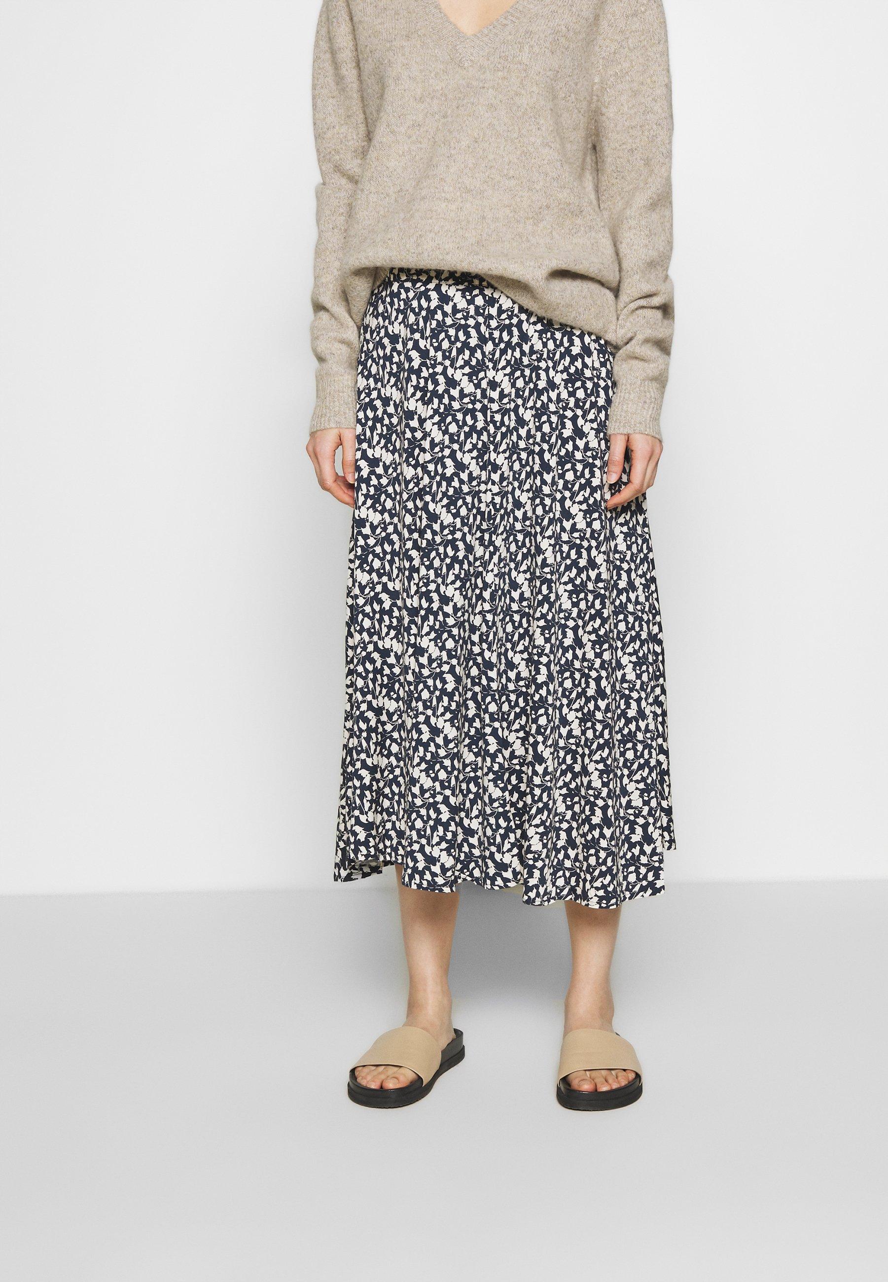 Bruuns Bazaar Shade Skirt - Spódnica Trapezowa Blue