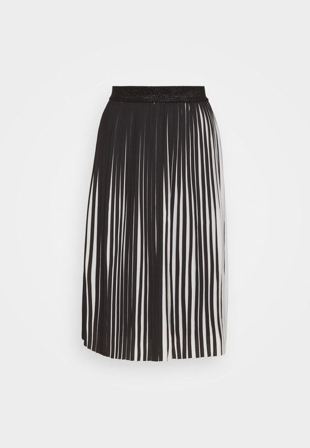 LEANE OLIVIA SKIRT - A-line skirt - black/white