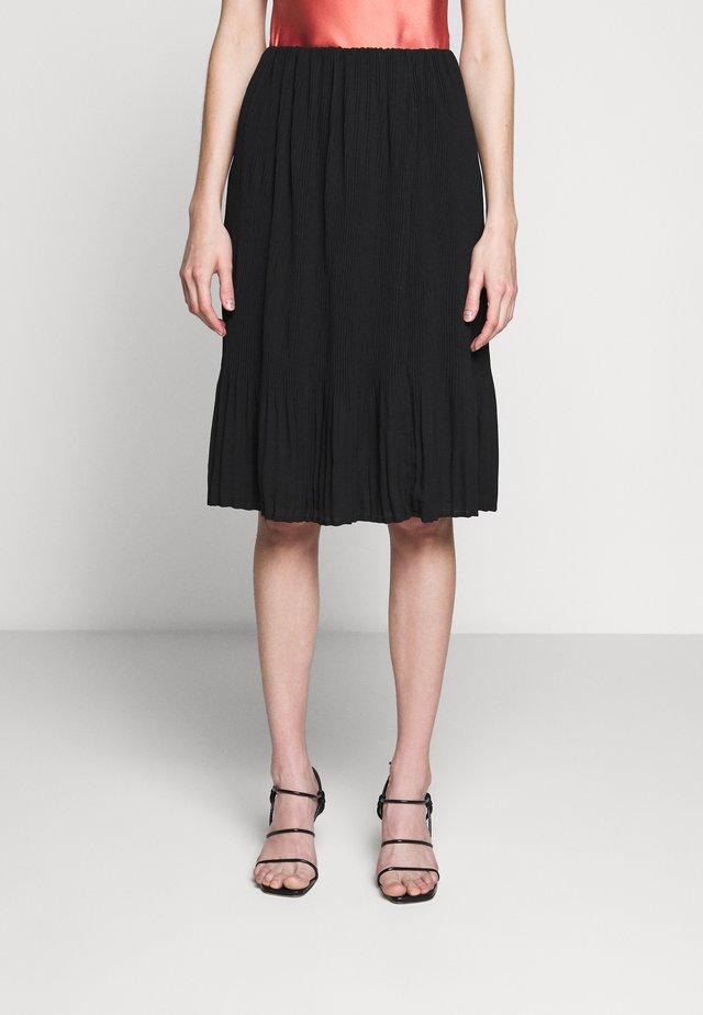 CECILIE SKIRT - Áčková sukně - black