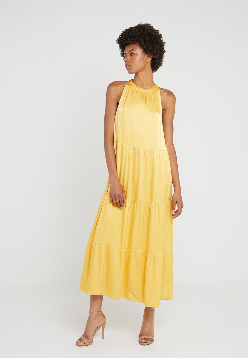 Bruuns Bazaar - GRO MAJA DRESS - Juhlamekko - peachy yellow