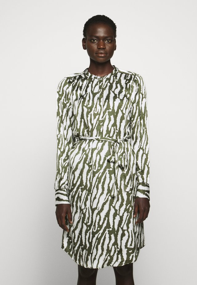 ZEBRA TREE AYAN DRESS - Shirt dress - olive