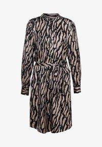 Bruuns Bazaar - ZEBRA TREE AYAN DRESS - Skjortekjole - black/desert sand - 4