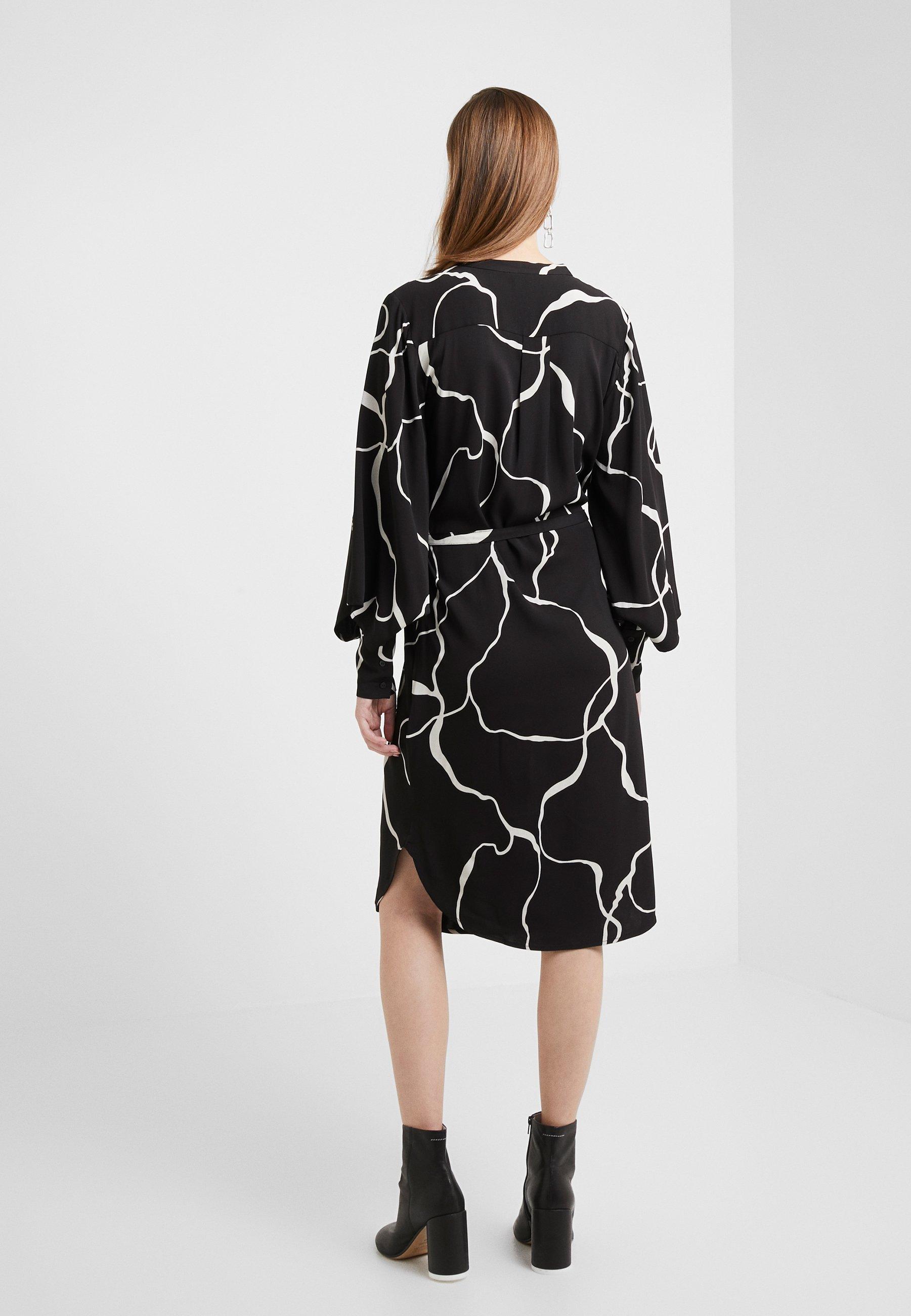 Bruuns Bazaar Bonne Abstract Dress - Vestito Estivo Black HF5nSFk