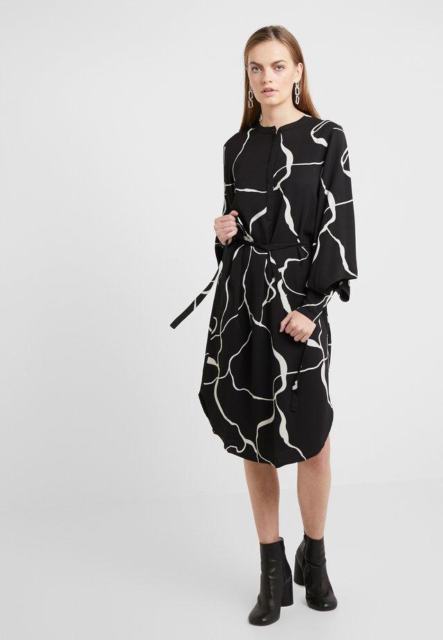BONNE ABSTRACT DRESS - Vapaa-ajan mekko - black