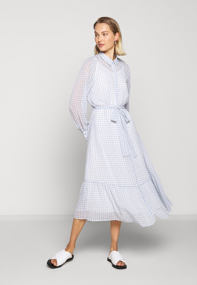CHECKS KORA DRESS - Skjortekjole - light blue