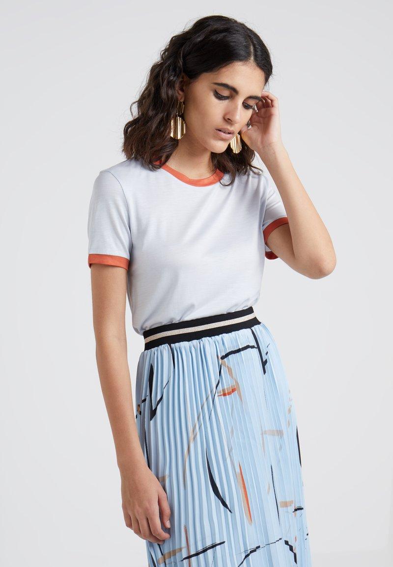 Bruuns Bazaar - KATKA ELSA TEE - T-shirt imprimé - heather blue